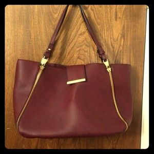 Steve Madden burgundy large tote purse